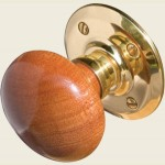 JKA60MPB Dark Wood Door Knob Set