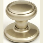 Diplomat Champagne Nickel Knob Set