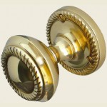 JG4PB Polished Brass Georgian Door Knob Set