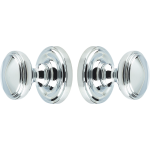 Concealed Fix Lined Door Knob Set Polished Chrome