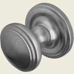 JV68 Satin Chrome Lined Door Knob Set