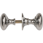 Mushroom Rim Lock Door Knobs Polished Chrome