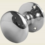 JV35B Polished Chrome Mushroom Door Knob Set