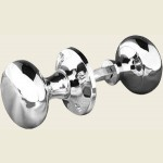 JV176A Polished Chrome Mushroom Rim Knob Door Knob Set