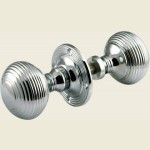 Reeded Rim Lock Knob Door Knob Set PC