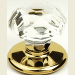 Sonata Crystal Bright Gold Cupboard Knob