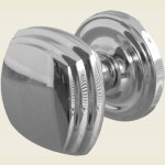 JV64 Polished Chrome Square Door Knob Set