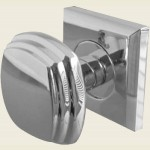 JV74 Polished Chrome Square Door Knob Set