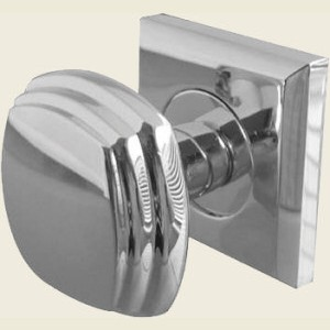 Chrome Door Knobs >> Jv74 Polished Chrome Square Door Knob Set