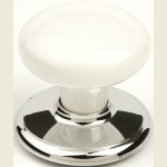 Whitehall Bright Chrome Wardrobe Knob