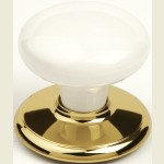 Whitehall Bright Gold Cupboard Knob