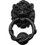 100mm Lion Head Door Knocker Black Antique