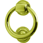 102mm Ring Door Knocker Polished Brass
