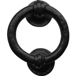 102mm Rustic Ring Door Knocker Antique Black