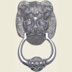 K1210 203mm Polished Chrome Lion Knocker