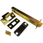152mm Double Sprung Tubular Mortice Latch Polished Brass