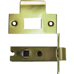 80mm Tubular Mortice Latch Satin Brass