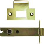 98mm Tubular Mortice Latch Satin Brass