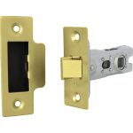 66mm Tubular Mortice Latch Polished Brass