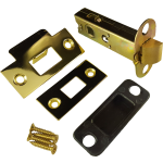 79mm Double Sprung Tubular Mortice Latch Polished Brass