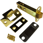 98mm Double Sprung Tubular Mortice Latch Polished Brass