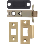 81mm Double Sprung Tubular Latch Polished Brass
