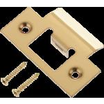 Door Latch Striker Keep Plate Polished Brass