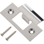Door Latch Striker Keep Plate Polished Stainless Steel