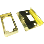 Double Sprung Tubular Latch Rebate Kit Polished Brass
