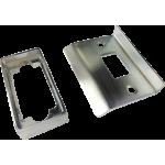 Double Sprung Tubular Latch Rebate Kit Satin Chrome