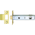 95mm Tubular Mortice Latch Gold