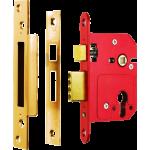 67mm ERA High Security Euro Cylinder Lock Case Polished Brass