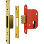 67mm ERA High Security Euro Cylinder Dead Lock Case Polished Brass