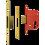 67mm ERA High Security Euro Cylinder Dead Lock Case Polished Brass