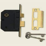 65mm 5 Lever Brass Sashlock BS