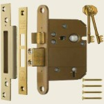 3 Inch 5 Lever Fortress BS Mortice Sashlock Brass
