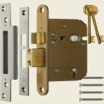 3 Inch 5 Lever Fortress BS Satin Sashlock