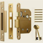 65mm Viscount 5 Lever Mortice Sashlock Brass