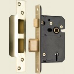 65mm 5 Lever Satin Mortice Sashlock BS