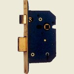 65mm 5 Lever Brass Mortice Sashlock