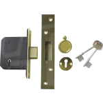67mm 5 Lever Mortice Deadlock PB