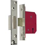 67mm 5 Lever Mortice Deadlock Polished Nickel