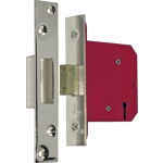 80mm 5 Lever Mortice Deadlock Polished Nickel