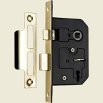 66mm 3-Lever Brass Mortice Sashlock