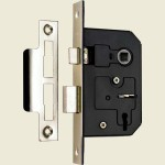 65mm 3-Lever Nickel Plated Mortice Sashlock