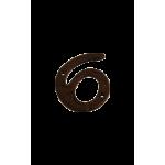 6-9 Large Black Antique Number Six or Nine