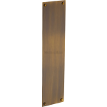 30cm Plain Finger Plate Door Push Antique Brass