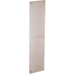 30cm Plain Finger Plate Door Push Satin Nickel