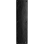 30cm Finger Plate Door Push Black Antique