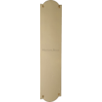 30cm Shaped Finger Plate Door Push Polished Brass